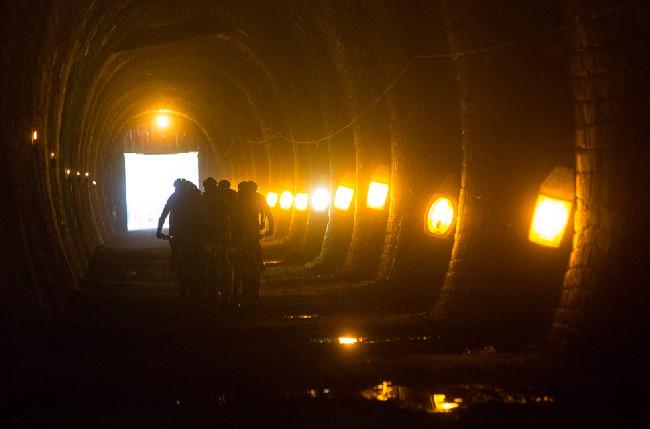 Author Šela Marathon 2014 - průjezd Slavičínským tunelem