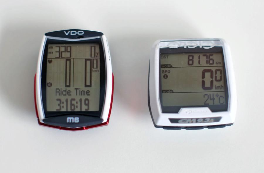 TEst computerů VDO vs.Ciclosport