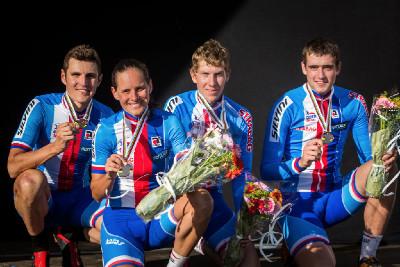 bronzová štafeta: Kulhavý, Nash, Rajchart a Bogar