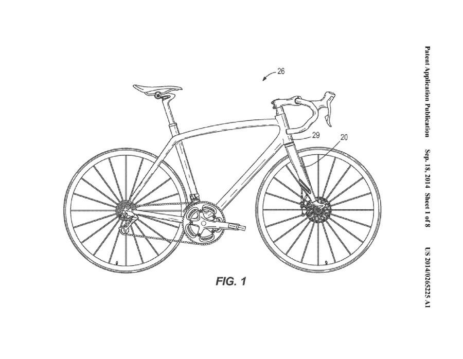 Specialized patent odpružené silniční vidlice