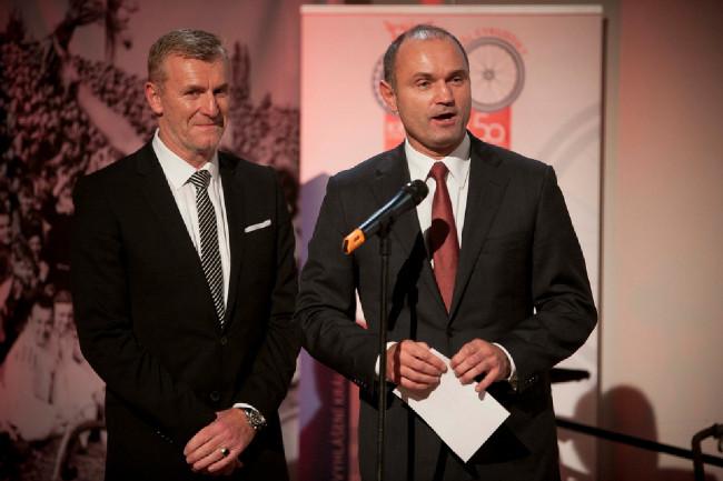 Král cyklistiky 2014 -  Peter Prívara - vtipný prezident Slovenského svazu cyklistiky a předseda správní rady Cevro Institutu Ivan Langer