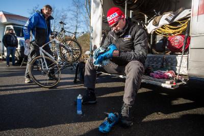 přípravy v týmu Mathieu van der Poela