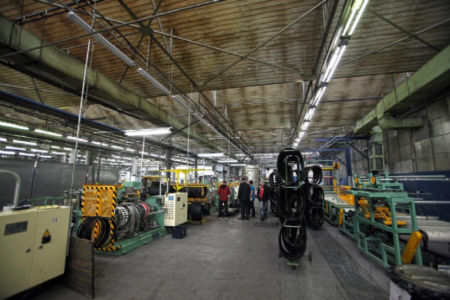 Na návštěvě v Rubeně - nová druhá provozní hala – konfekce