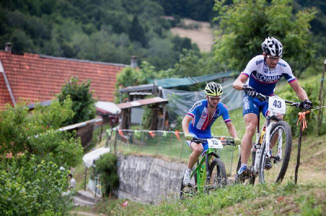 Mistrovství Evropy XCO 2015, Alpago - Škarna v česko-slovenském souboji