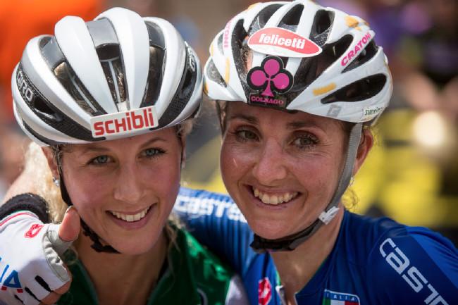 Mistrovství Evropy XCO 2015, Alpago - Jolanda Neff a Eva Lechner