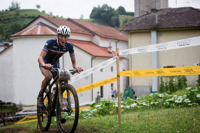 Mistrovství Evropy XCO 2015 - sobota - stříbrný Francouz Philipp Antoine