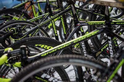 MČR cyklokros 2016: depo v ČEZ Cykloteamu Tábor