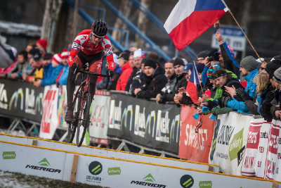 MČR cyklokros 2016: juniorský biker Matěj Průdek