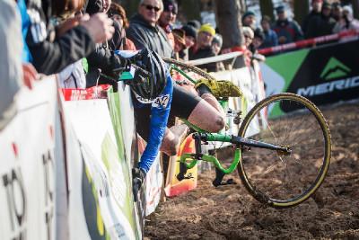 MČR cyklokros 2016: wallride Václava Svatoše