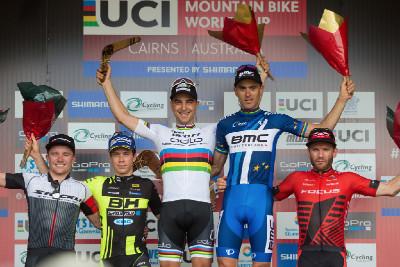 1. Nino Schurter, 2. Maxime Marotte, 3. Julien Absalon, 4. Mathias Fluckiger, 5. Florian Vogel
