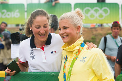 Fotogalerie: Olympijský závod XCO žen - Rio 2016