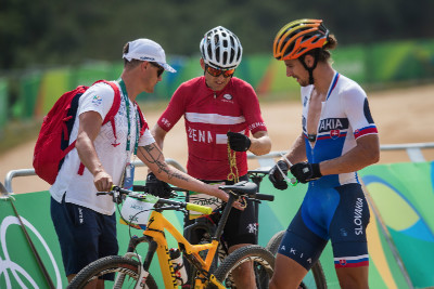 Peter Sagan trénoval start