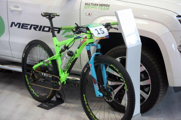 Bike Ondry Cinka z Ria byl na stánku Meridy
