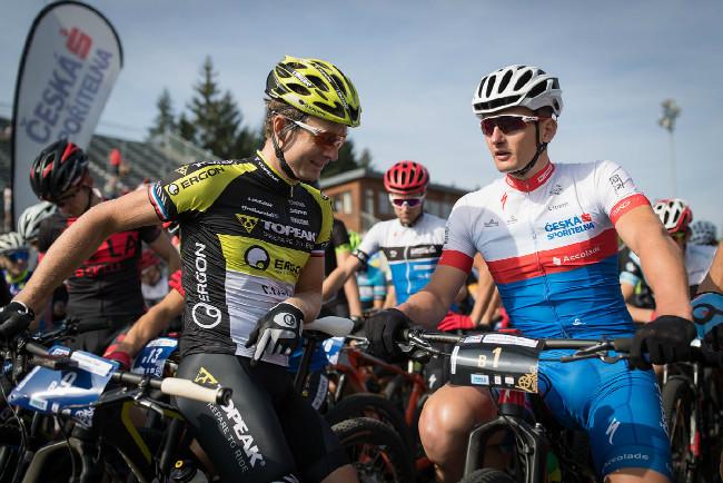 Kristián Hynek a Pavel Boundný na startu