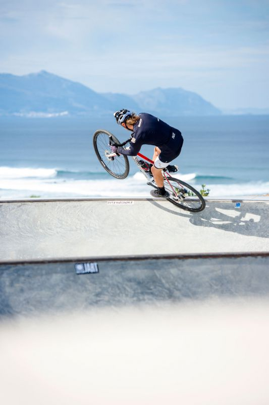 David Cachon ve skateparku