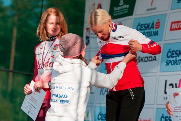 Závod se jel i jako akedemické MČR v maratonu, vyhrála Vendula Kuntová
