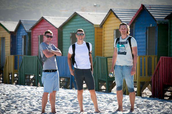 Míša, Jára a Vláša na Muizenberg beach