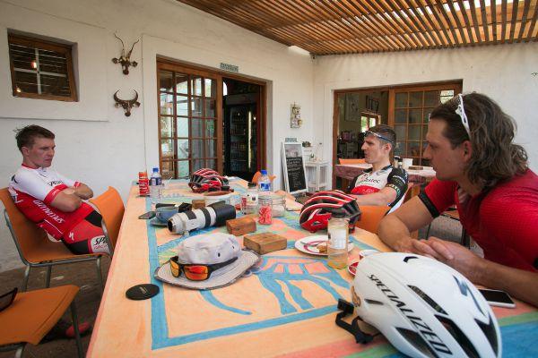 V cyklistické kavárně Ride In