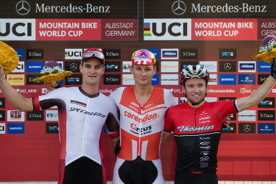 1.Mathieu van der Poel, 2.Sam Gaze, 3.Mathias Fluckiger