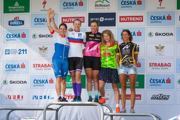 Pětice nejrychlejších žen zleva: Drhová, Pichlíková, Kučerová a Hnátkovy