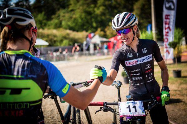 Horská kola Stupno 2018 - gratulace vítězce Karle