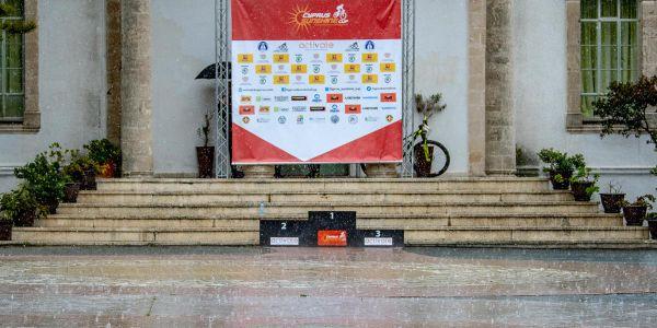 Afxentia 2019 - 2. den - opuštěné stupně vítězů