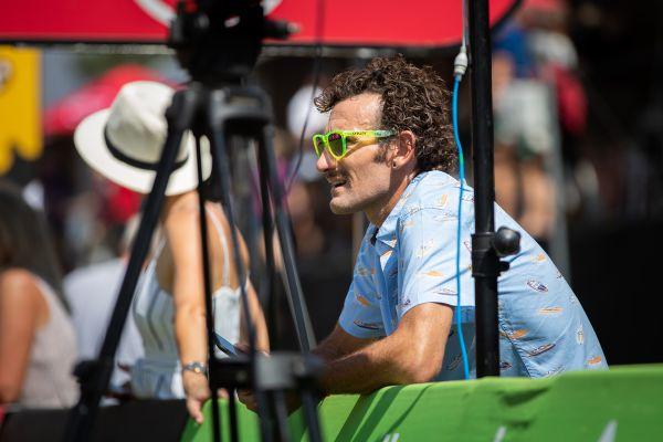 Na finále se přišel podívat triatlonista Tim Don