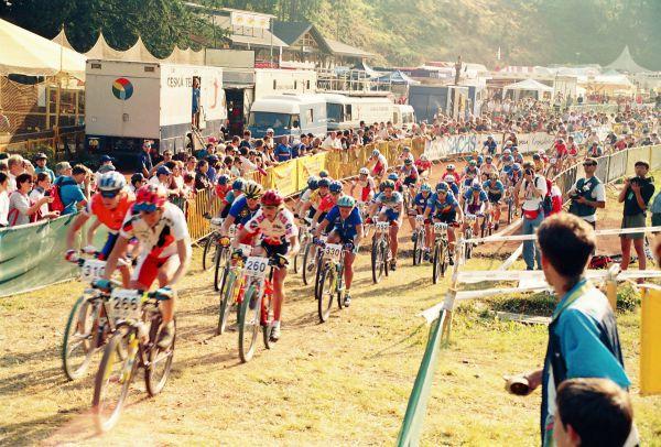 ME Špindl 1995 - start závodu žen
