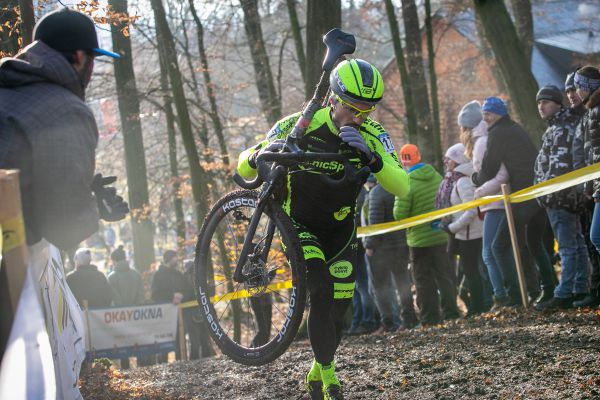 MČR CX 2020 - špatně si nevedl ani biker Marek Rauchfuss v novém dresu a na novém kole