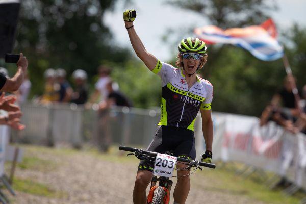 David Šulc vyhrává závod juniorů