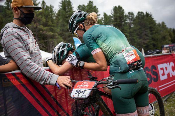Linda Indergand si konec závodu protrpěla