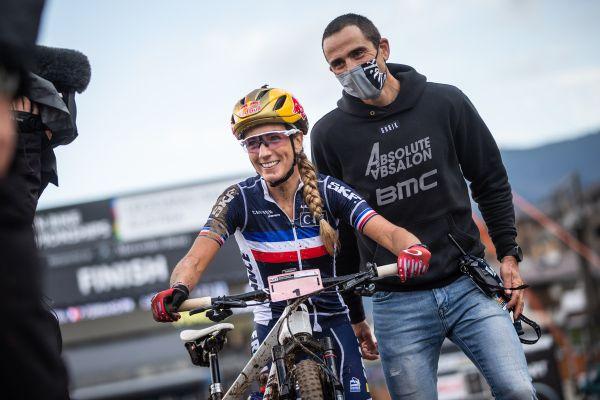 Pauline Ferrand-Prevot a Julien Absalon