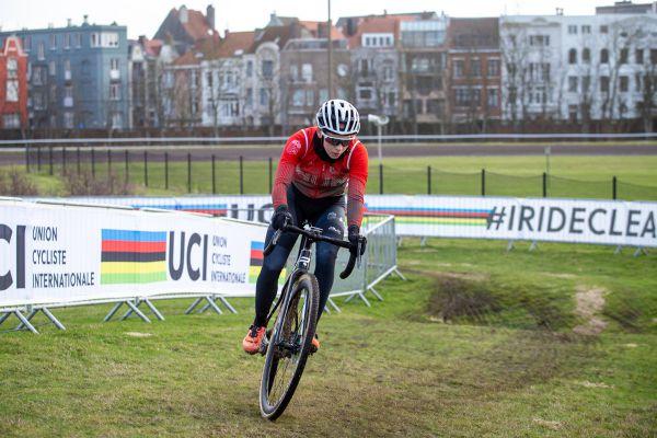 MS Oostende 2021 - trénink - jediné plus je, že je sjízdná i za mokra, pokdlad je totiž pořád hodně písečný
