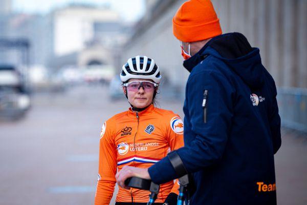 MS Oostende 2021 - trénink - bikerka Anne Tauber