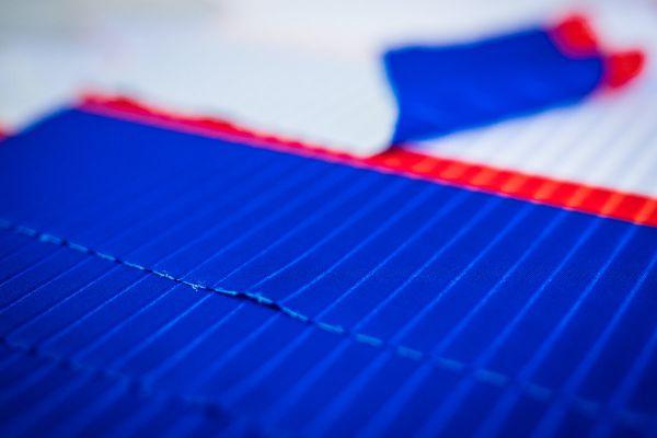 Detail použitého materiálu