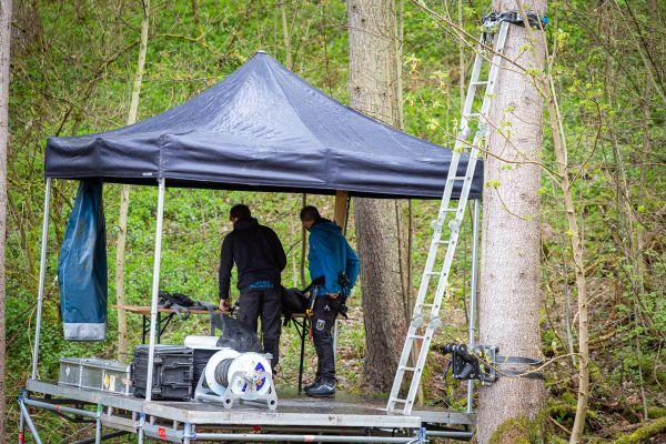 Albstadt 21 - trénink - příprava lanovky na kameru Red Bull TV