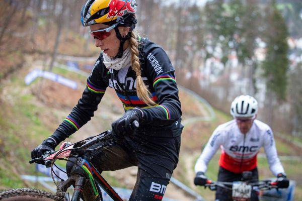 Albstadt 21 - trénink - Pauline Ferrand Prevot