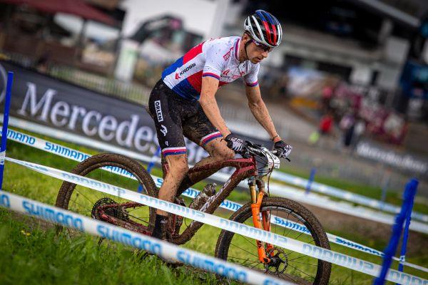 SP Leogang 2021 - trénink - Ondřej Cink na kole v novém designu