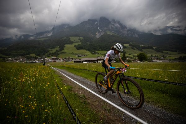 Solo jízda Mony Mitterwallner v kategorii U23