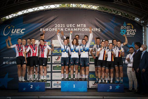 Mistrovství Evropy XCO - Novi Sad 2021 - štafety