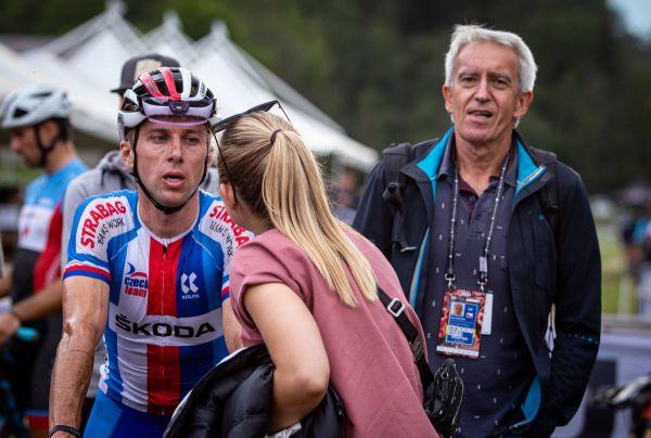 MS 2021 - short track - Cimbálova podpora Karel Martinek a žena Pavlína