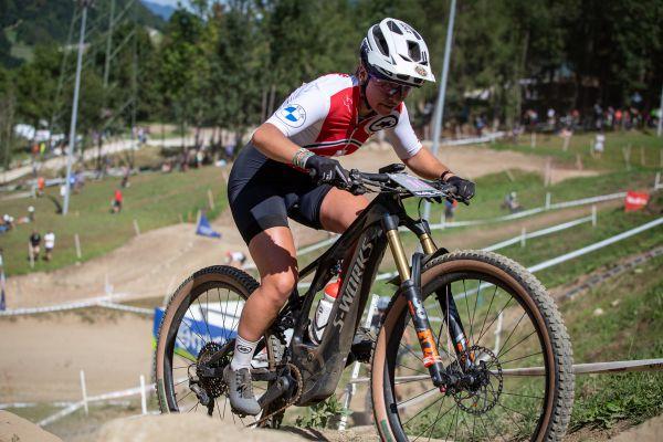 MS 2021 - e-MTB - překvapivá vítězka ze Švýcarska Nicole Goeldi