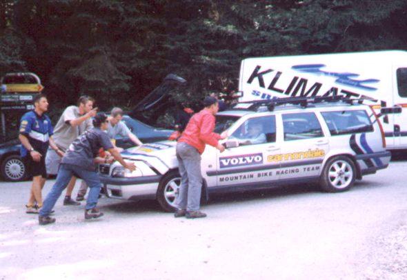 ME Downhill 1998 Volvo se nám zastavilo