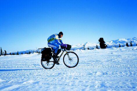 Jan Kopka na Alja�ce p�i Iditarod Trail Invitational, foto: archiv J. Kopky