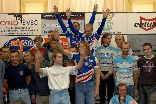 Nejúspěšnější týmy - Vyhlášení Galaxy Anlen MTB série  a Jihočeské amatérské ligy v Písku, 2006