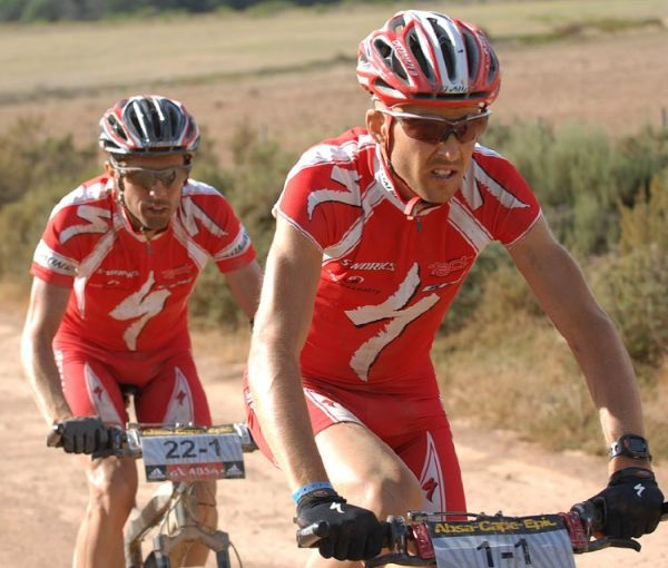 Cape Epic 2007 - 5. etapa, Sauser a George, foto: Frank Bodenmüller/MTBSector.com