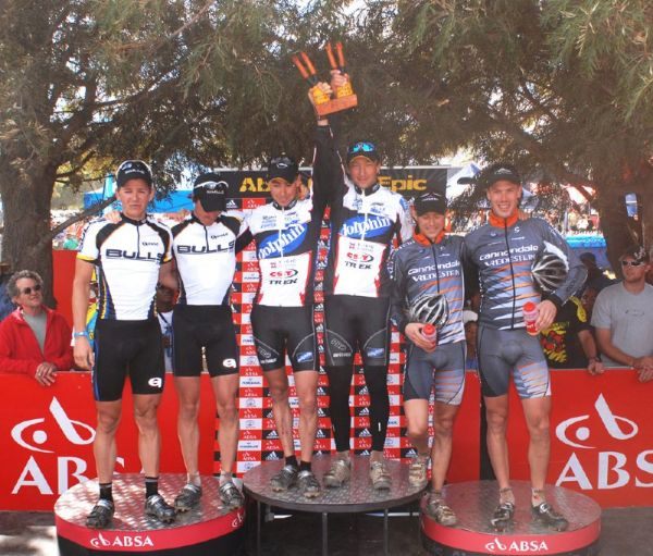 Cape Epic 2007 - 5. etapa stupně vítězů, foto: Frank Bodenmüller/MTBSector.com