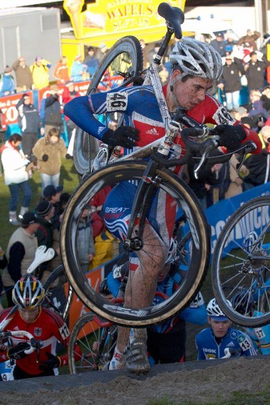 Jonathan Mc Evoy (GBR) - Mistrovství světa v cyklokrosu 2007, junioři - Hooglede-Gits, Belgie