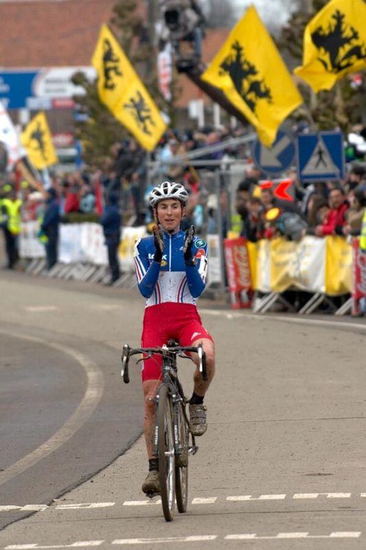 Laurence Leboucher /FRA/ - MS cyklokros 2007, Hooglede-Gits (BEL)