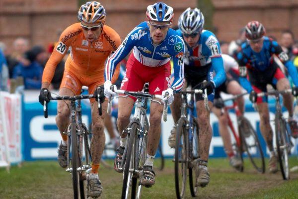 Richard Groenendaal, John Gadret a Radek ŠImůnek - MS cyklokros 2007, Hooglede-Gits (BEL)
